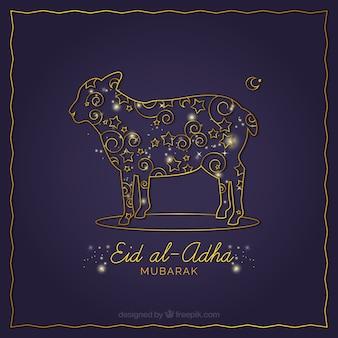 Ornamental background of eid al-adha