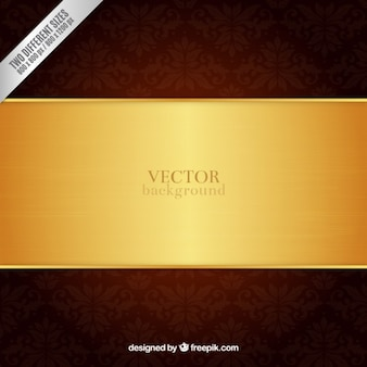 Ornamental background with golden stripe