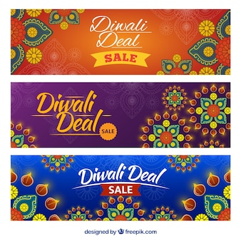 Ornamental banners of diwali deals