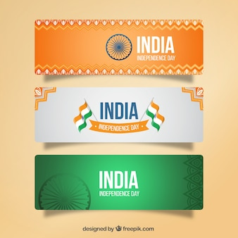 Ornamental banners of india independence day