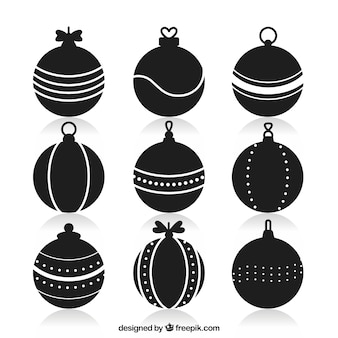 Ornamental bauble silhouettes