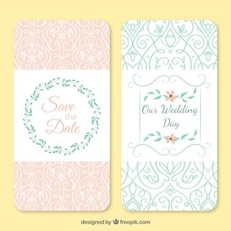Ornamental beautiful wedding invitations