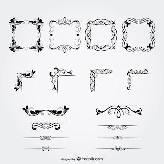 Ornamental black frames