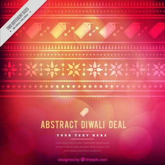 Ornamental bokeh background of diwali sales