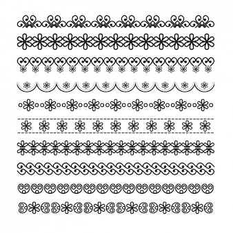 Ornamental borders with floral details