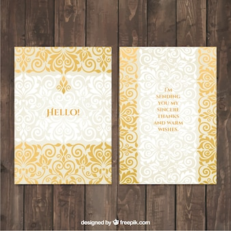 Ornamental card in damask style