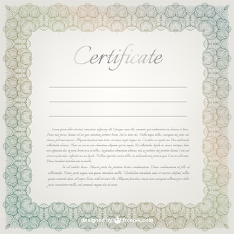 Ornamental certificate template