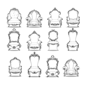 Ornamental chairs collection