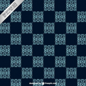 Ornamental checkered background