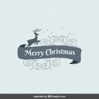 Ornamental Christmas card with deer
