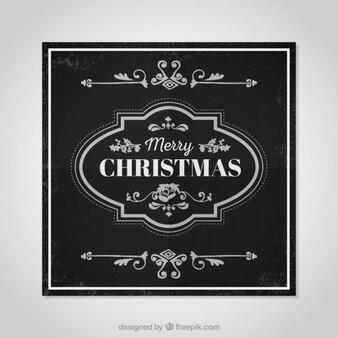 Ornamental christmas greeting card