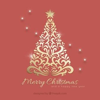 Ornamental christmas tree background