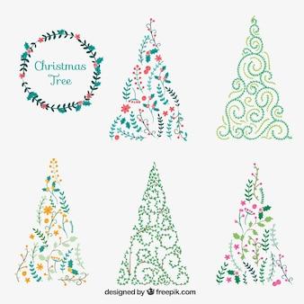 Ornamental christmas trees collection