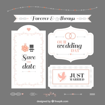Ornamental cute wedding badges