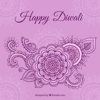 Ornamental Diwali background