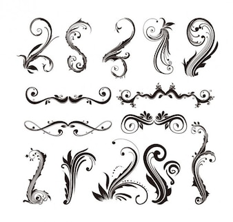 Ornamental elements for web design. antique style.
