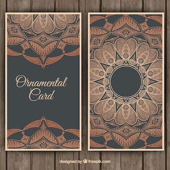 Ornamental floral card