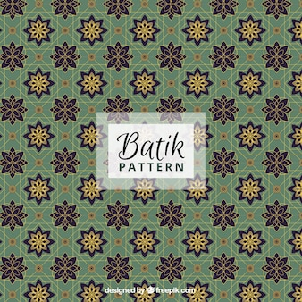 Ornamental floral pattern in style batik