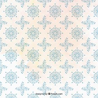 Ornamental floral shapes pattern