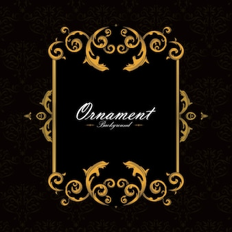 Ornamental frame background