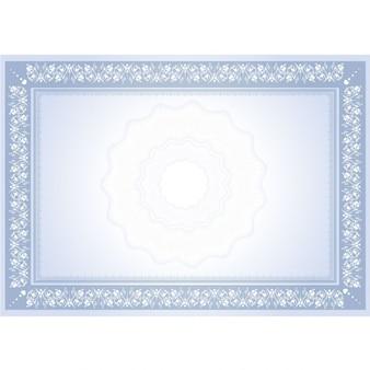 Ornamental frame diploma