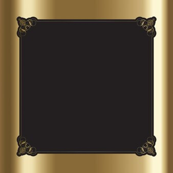 Ornamental frame on a golden background