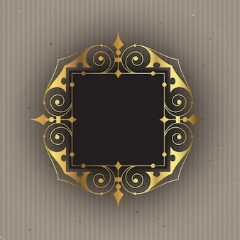 Ornamental frame with gold effect