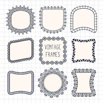Ornamental frames, vintage style