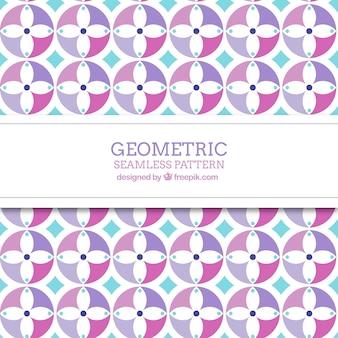 Ornamental geometric floral pattern