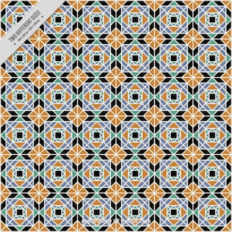 Ornamental geometric tile