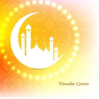 Ornamental glowing islamic background