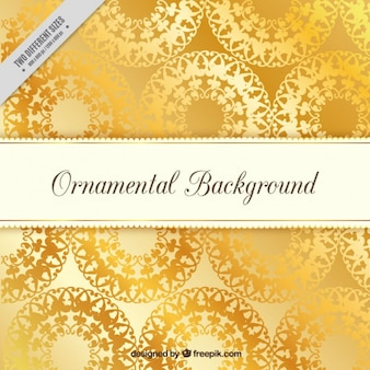 Ornamental golden background
