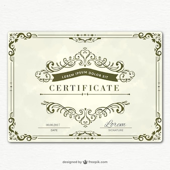 Ornamental graduation certificate template