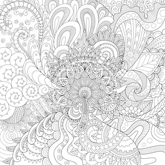 Ornamental hand drawn background