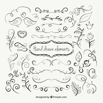 Ornamental Hand Drawn Elements Collection