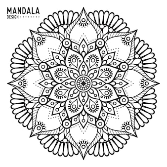 Ornamental hand drawn mandala