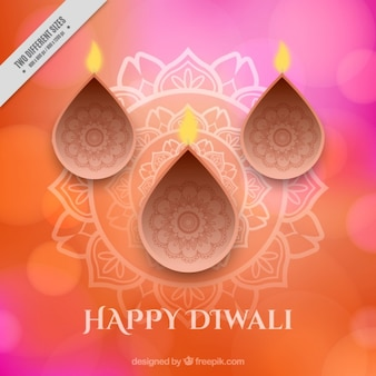Ornamental happy diwali background