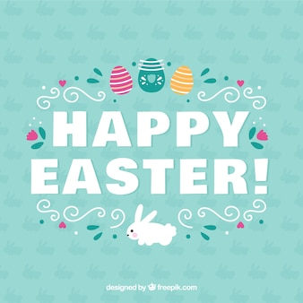 Ornamental Happy Easter background