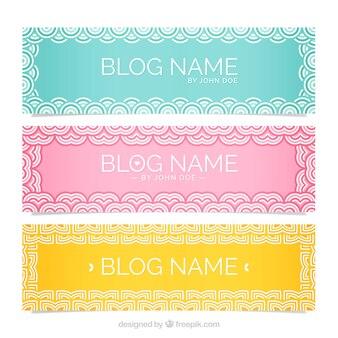 Ornamental headers for blog
