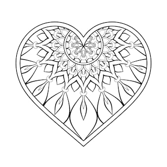 Ornamental heart with mandala