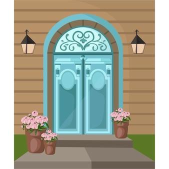 Ornamental house door