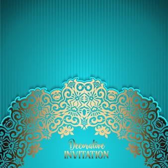 装飾的なデザインの招待状の背景