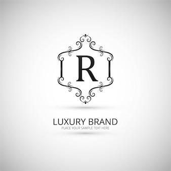 Ornamental letter r logo