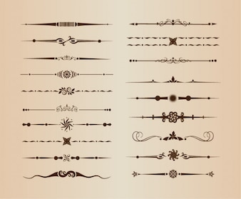 Ornamental lines vector dividers