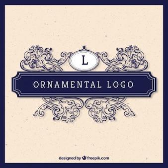 Ornamental logo in vintage style