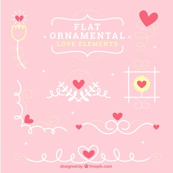 Ornamental love elements