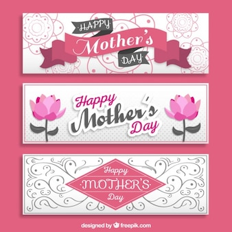 Ornamental mothers's day banners