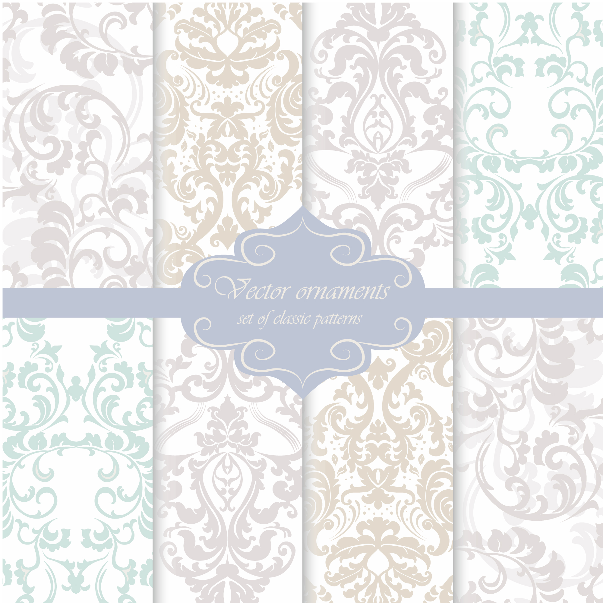 Ornamental pattern background collection