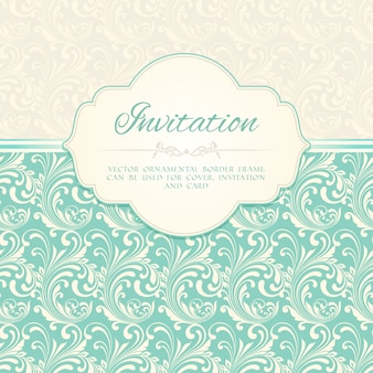 Ornamental pattern invitation card or album cover template vector illustration