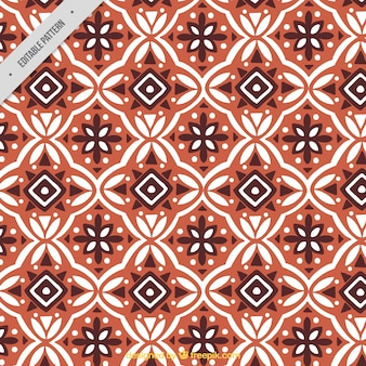 Ornamental pattern of batik geometric shapes